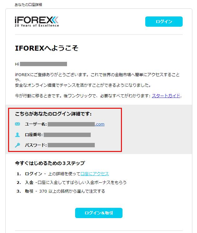 iFOREXログイン情報
