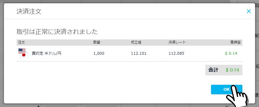 iFOREX決済画面